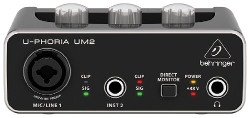 Behringer USB Audio Interface U-PHORIA UM2 Audiophile 2x2
