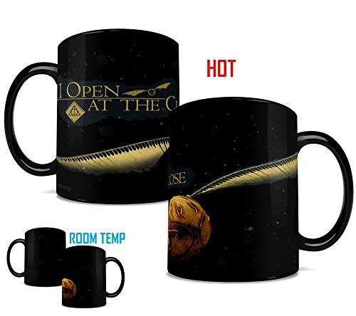 Morphing Mugs Harry Potter Golden Snitch I Open At The Close Heat Reveal Clue Ceramic Coffee Mug - 15 Ounces