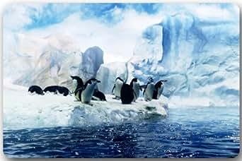 """Diseño de pingüinos Rectángulo Entryways–Felpudo antideslizante Felpudo alfombra–23,6(L) X 15,7(W), 3/16espesor de la """""""