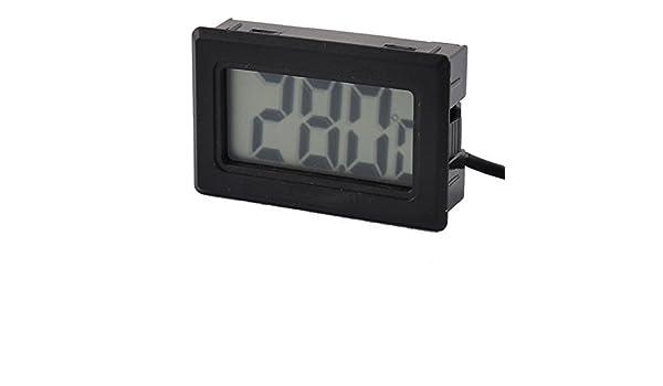 Amazon.com : eDealMax Pantalla acuario incubadora refrigerador electrónico medidor Digital del Sensor de temperatura de la sonda del termómetro : Pet ...
