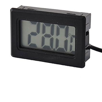 eDealMax Pantalla acuario incubadora refrigerador electrónico medidor Digital del Sensor de temperatura de la sonda del
