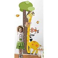 Adesivo de Parede Infantil Régua Zoo - Possui 1,84 m altura x 0,8 m largura