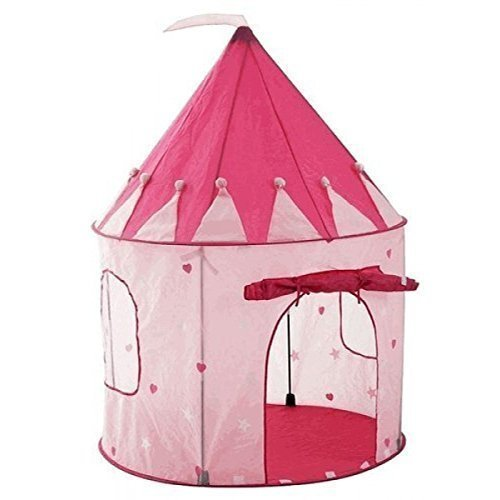 Children Play Tent by StepSafe® Girls Pink Princess Castle w Storage Case High Quality Play Tent for Toddlers and Kids • Strong and Durable • Lightweight and Portable • 100% Safe Playhouse for (Jumbo White Bunny Kit)