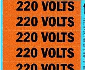 Ideal Industries, Inc. 44-405 Voltage And Conduit Marker Cards Small 2-1/2 X 1/2 Inches Legend (Conduit Marker Cards)