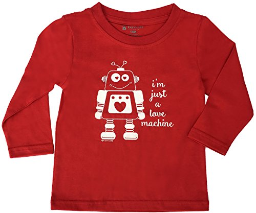 Fayfaire Valentines Day T-Shirt Outfit: Boutique Quality Adorable I'm Just a Love Machine 5T by Fayfaire