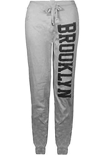 Oops Outlet - Pantalon Survêtement Femme Bas Jogging Long Gym Brooklyn Neuf - S/M FR 36-38, Bordeaux