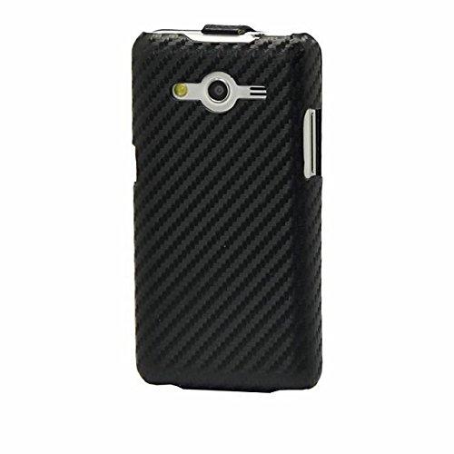 Samsung Galaxy Core Ii Dual SIM G355m Case , Flip Carbon Pu Leather Case Cover for Samsung Galaxy Core Ii Dual SIM G355m (Black)