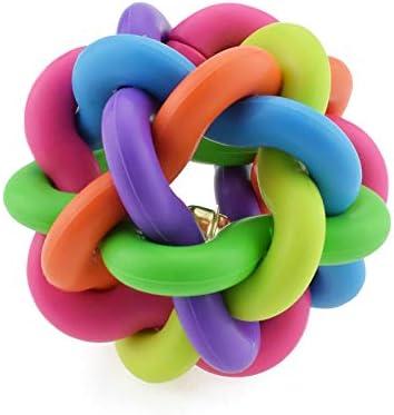 Nikgic - Juguete para Mascotas Plastico Natural No tóxico Resistencia a la mordida Campanas de Colores Adecuado para Molares Juguete de Sonido Molar