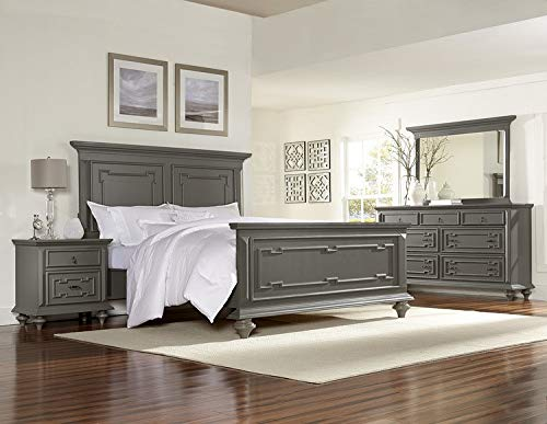 Contemporary Grey Hand Rub-Through Distressed Bedroom Furniture - Marceline ()