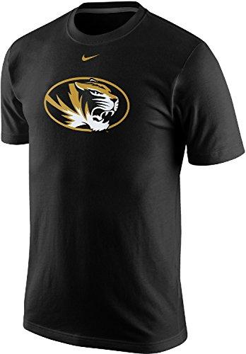 Nike Missouri Tigers Men's Classic Logo Tiger Head in Oval Short-Sleeve T-Shirt (XL, Black) -