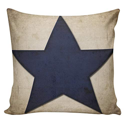 Dozili Pillow Cover Patriotic Independence Day Colonial American Star French Style Decor Throw Pillow