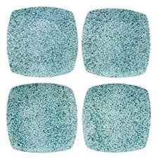222 Fifth My Place My Space Speckled Dinner Plates Set of 4
