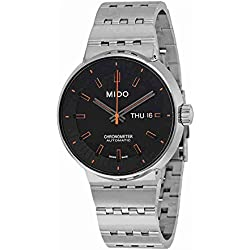 Mido Men's Special Edition Black Dial Silver Automatic Analog Watch M8340.4.18.19