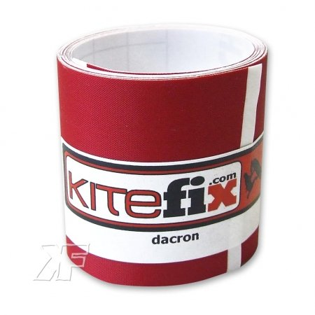 (1m² = 12.78eur Kitefix Dacron Tape/Spinnaker 5cm x 125cm red