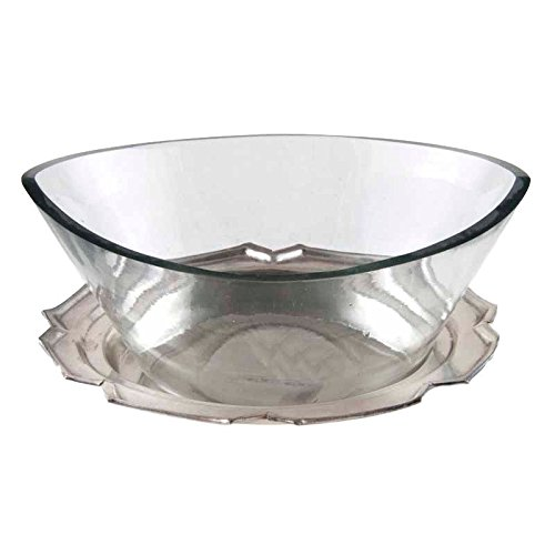 Better & Best 1946083Large Glass Gravy Boat with Dish, Silver