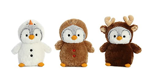 Aurora Pom Pom Penguin Wanna Be Holiday 3 Pack