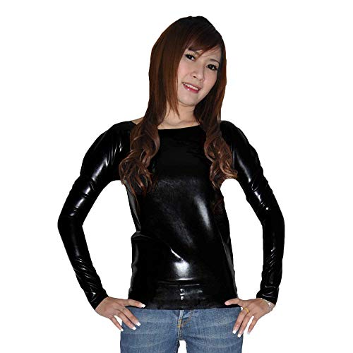 Lequida Latex Rubber Gummi Black Long Sleeve Shirt (one Size)