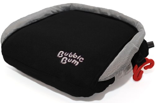 BubbleBum Travel Booster Car Seat, Black