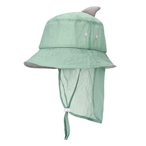 Toddler Girls Boys Swim & Sun Hat Baby Flap Quick Drying Bucket Hat UPF 50+ Sun Protection Green
