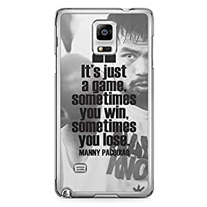 Manny Pacquiao Samsung Note 4 Transparent Edge Case - Quote Its just a game