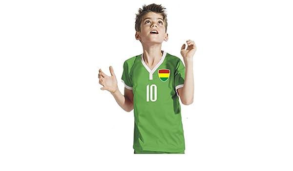Aprom-Sports Bolivia Niños Pantalones - Camiseta del surtidor Incluye Impresión Nombre Personalizado + nº GGG WM 2018: Amazon.es: Deportes y aire libre