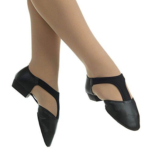 Danzcue Adulte Stretch Jazz Chaussures Noir