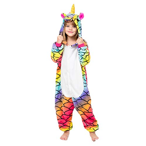 RONGTAI Kids Unisex Animal Flannel Unicorn Onesie Pajamas Cosplay Costume(105#(47