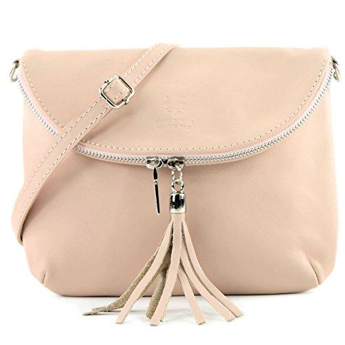 Small Girl Bag nappa Shoulder Bag T07 Shoulder Rosabeige Bag Clutch Leather Ital Bag Underarm leather qvYwxw