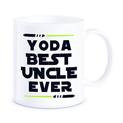 - Fathers Day Gift for Uncles from Niece Nephew Yoda Best Uncle Ever for Worlds Awesome Uncle Funny Gag Gift Idea Ceramic Coffee Novelty Mug Tea Cup for Christmas or Birthday by Classic Mugs