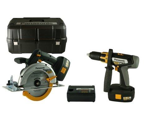 Panasonic EYC151GQW 18-Volt NiMH Cordless 2-Tool Combo Kit