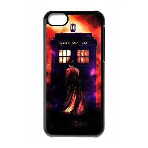 Customized Cell Phone Case Cover for iPhone 5C with DIY Design Police Box