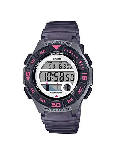 Casio Women's 10 Year Battery Quartz Resin Strap, Black, 19.9 Casual Watch (Model: LWS-1100H-8AVCF) Black Resin Strap 100 Meters