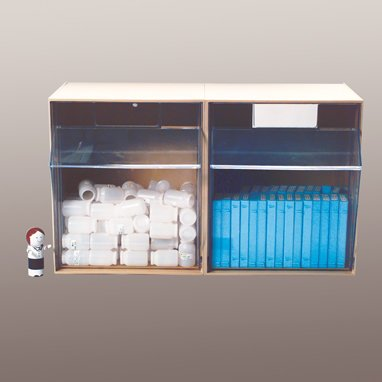 HCL Tilters Tilt Front Bin - 2 Bin (White)