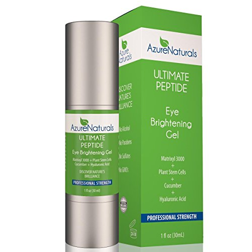 Azure Naturals Cucumber Infused Ultimate Peptide Eye Brightening Gel, 1 oz.