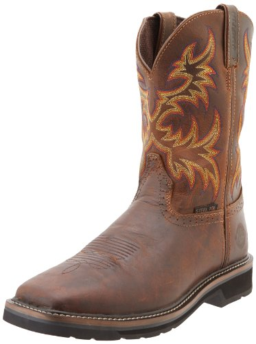 Amazon.com: Justin Original Work Boots Men's Stampede Steel Toe ...