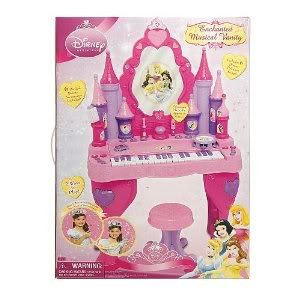 Toy / Game 100% Brand New Disney Princess Keyboard Vanity With Play Nail Polish/Bell And Lipstick/Whistle by Disney