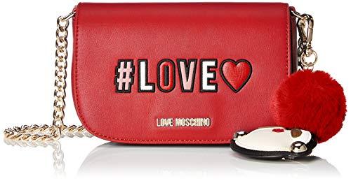 Pu rosso Portés Sacs Rouge Love Épaule Borsa Moschino Exa70wvq