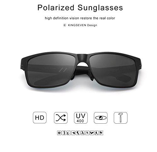 de protección sol de espejo sol gafas gafas negro Gafas sol hombre Espejo clásico De Polarizadas gafas sol gafas de polarizadas gafas Hombre polarizadas cristal Sol de UV400 polarizadas baratas Hp6Uqg