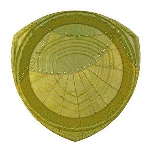 Nachhaltige Einweg Teller oder Einweg Geschirr aus grünen Laubblättern, Pappteller oder Plastik Teller Ersatz