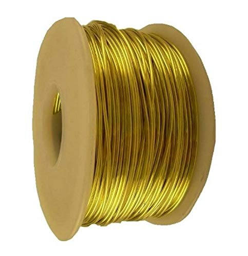 12 Ga Round Soft Yellow Brass Wire (1 Lb. - 52 Ft. SPOOL)