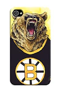 Nhl Boston Bruins Print Tpu Rubber Case For Iphone 4/4S - For Hockey Fans by kobestar
