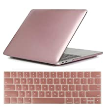 MacBook Pro 15 Retina 2016 Case, CaseHouse-Q Plastic Hard Shell Case for MacBook Pro15 Inch Retina A1707 with Touch Bar + Keyboard Cover (Rose Gold)