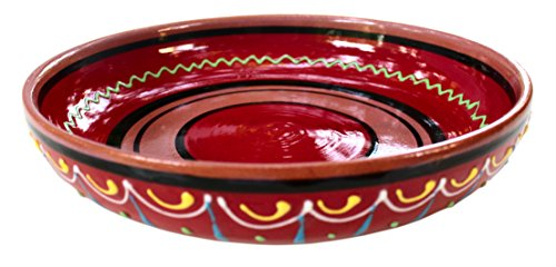 Terracotta Red, Serving Dish - Hand Painted From Spain by Cactus Canyon Ceramics