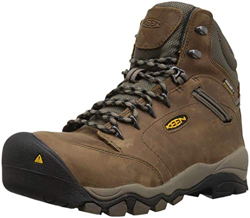 Keen Utility Women's Canby AT Waterproof Industrial Boot, Shiitake/Brindle, 7.5 M US