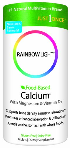 Rainbow Light, calcium alimentaire à base, 180 Count (pack de 2)