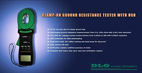 DLG Clamp On Ground Earth Resistance Tester With USB Connection DI-120