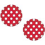 Paper Plates Red Polka Dot Dessert Plate