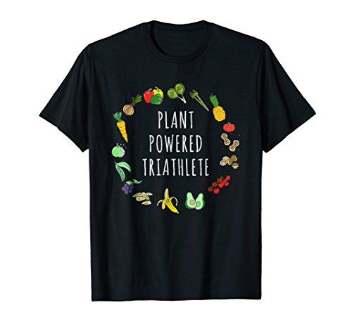 Plant-Powered Triathlete Vegetarian Vegan Triathlete T-Shirt (Best Diet For Triathletes)