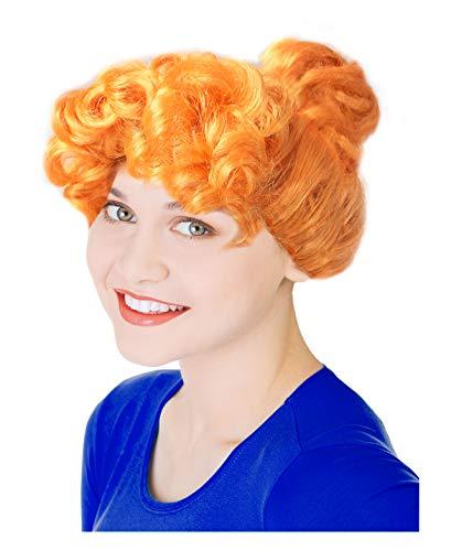 Orange Frizzle Costume Wig Wilma Costume Wig Miss Lucy Wilde Costume Wig Orange