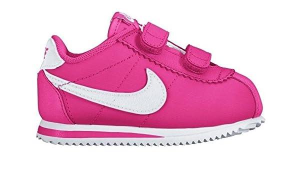 Nike Cortez Nylon (TDV), Zapatos de recién Nacido para Bebés, Rosa/Blanco (Hyper Pink/White), 19 1/2: Amazon.es: Zapatos y complementos